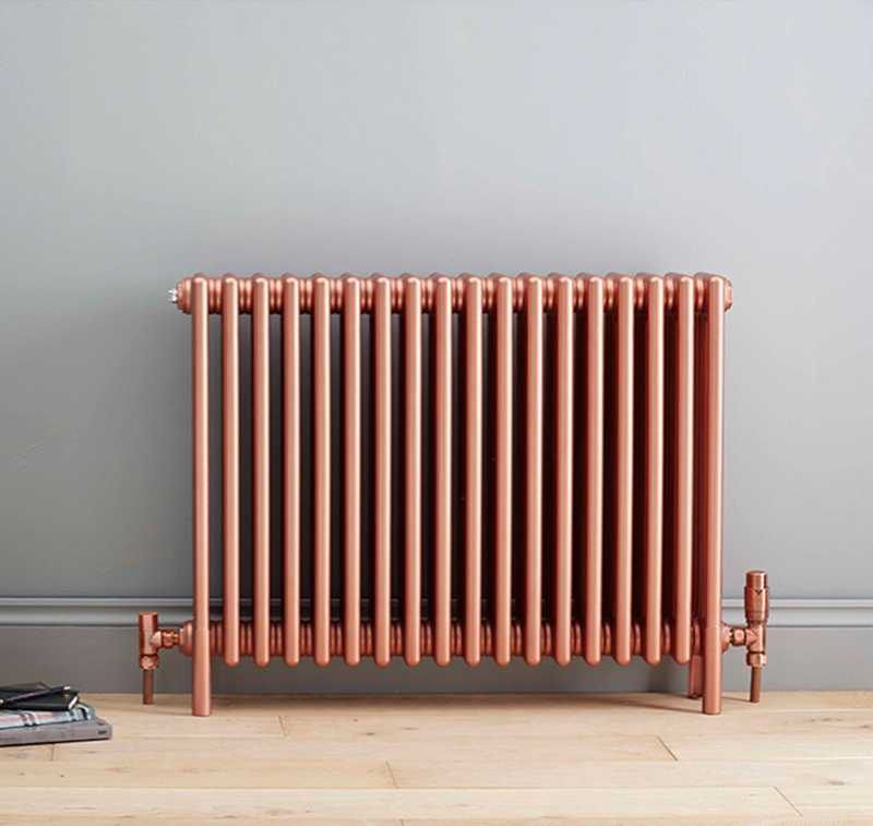 Bisque traditional copper radiator