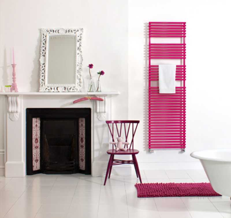 Bisque radiator in bright pink